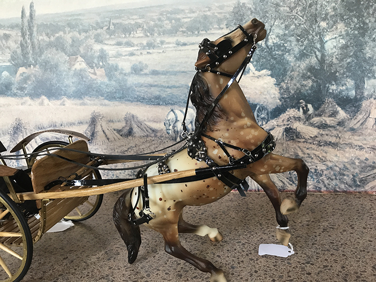 driving harness on misbehaving horse
