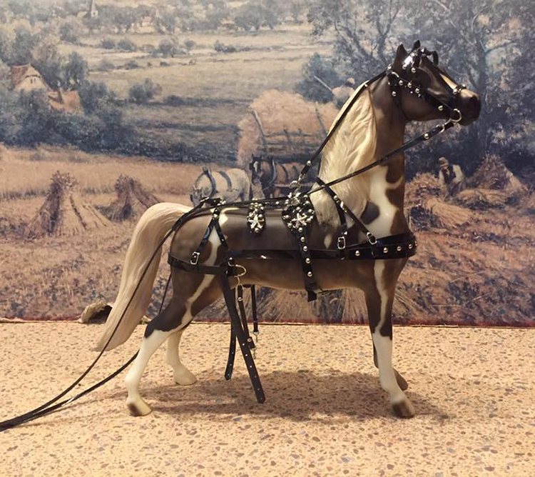driving harness on peter stone horse